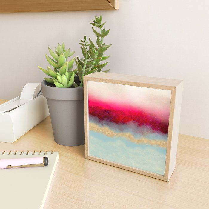 Gold Path Framed Mini Art Print