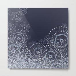 It's snowing mandalas Metal Print