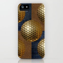 GOLD GOLF iPhone Case