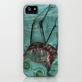 Blue Swimmer no. 5 iPhone Case
