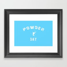 Powder Day Light Blue Framed Art Print