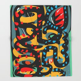 Energy Flow Abstract Art Life Throw Blanket