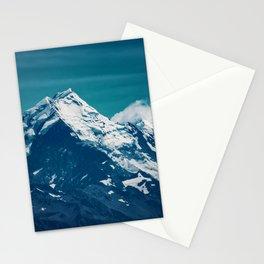 Aoraki Mount Cook glacier summit Stationery Cards