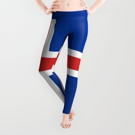 Flag of Iceland - High Quality Image Leggings