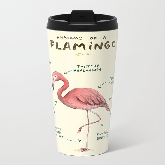 Anatomy of a Flamingo Metal Travel Mug