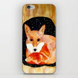 Sleepy Red Fox iPhone Skin