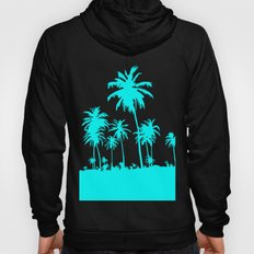 Turquoise Palm Trees Hoody