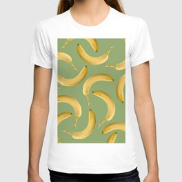 Bananas Pattern - green T-shirt