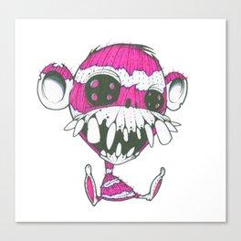 Creepy sock Monkey Canvas Print