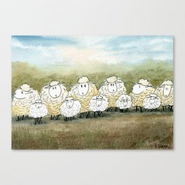Lambinated Canvas Print