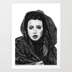 Meghan Ory Little Red Riding Hood Art Print