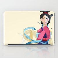 mulan iPad Cases featuring Mulan: Reflection by Minette Wasserman