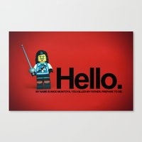 the princess bride Canvas Prints featuring The Princess Bride by Studio Ten Media