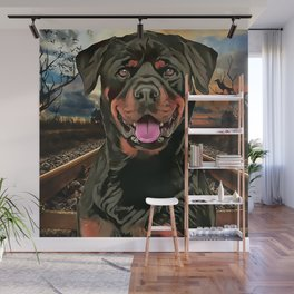Rottweiler The Hobo Dog Wall Mural
