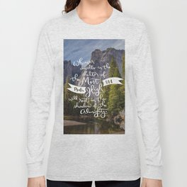 Psalm 91 with Background Long Sleeve T-shirt