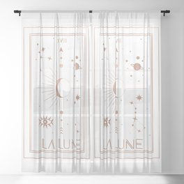 La Lune or The Moon White Edition Sheer Curtain