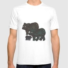 Wandering Bears MEDIUM White Mens Fitted Tee