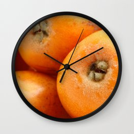 Loquats Wall Clock