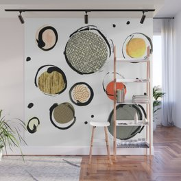 Ink Collage Wall Mural