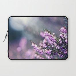 Pink Heather Flower Laptop Sleeve