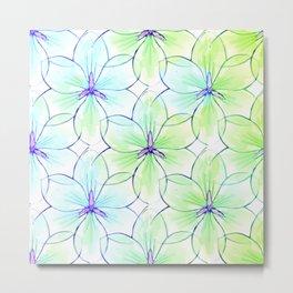 Flower Sketch 7 Metal Print
