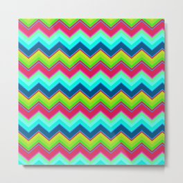 Bright Ziggy Zag Metal Print