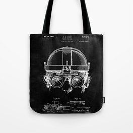 Welding Goggles Blueprint Tote Bag