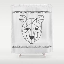 Totem Festival 2015 - Black & White Shower Curtain