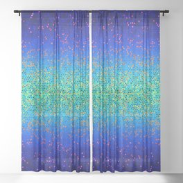 Glitter Star Dust G247 Sheer Curtain