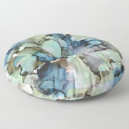 Alcohol Ink Sea Glass Floor Pillow