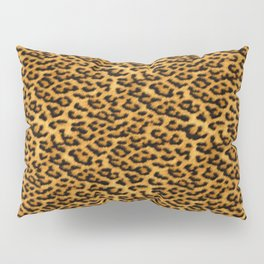 Chic Leopard Fur Fabric Pillow Sham