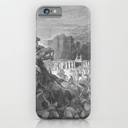 Gustave Doré - La Grande Bible de Tours (1866) 046 The Walls of Jericho Falling Down (Joshua 6:20) iPhone Case