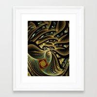 goldfish Framed Art Prints featuring Goldfish by Klara Acel