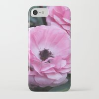 coasters iPhone & iPod Cases featuring The Softest Pink by H. N.