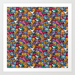 Sea pattern 02 Art Print