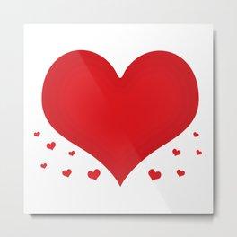 Floating love hearts Metal Print