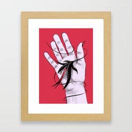 Disturbing Itch - Hand Biting Flower Monster Framed Art Print