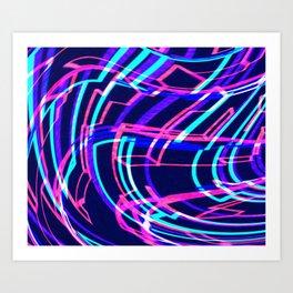 EDM Music Wave Art Print