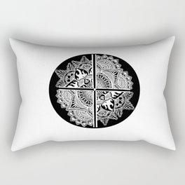 Mandala de la nuit Rectangular Pillow