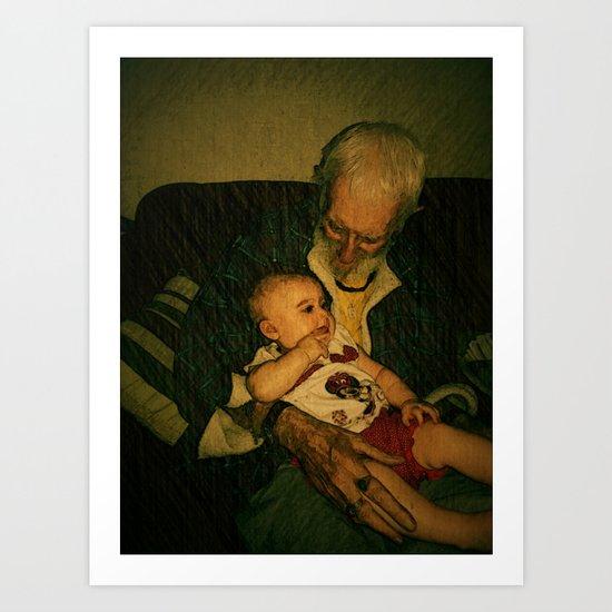 4 generations  Art Print
