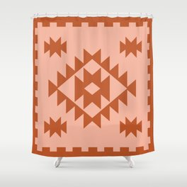 Zili in Peach Shower Curtain