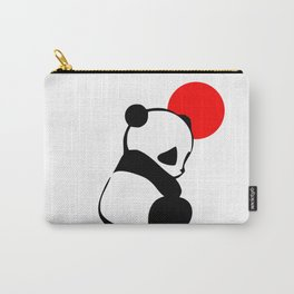 Shy Panda in the Red Sun Carry-All Pouch