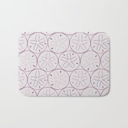 Sanddollar Pattern in Purple Bath Mat