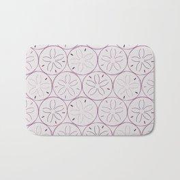 Sanddollar Pattern in Purple Bath Mat
