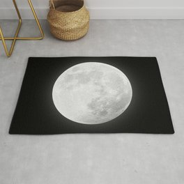 CHALK WHITE MOON Rug