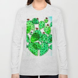 Cacti with marble sky Long Sleeve T-shirt