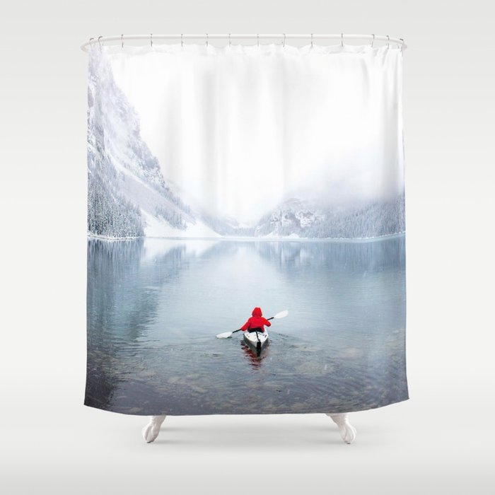 Kayaking Across A Canadian Lake Shower Curtain
