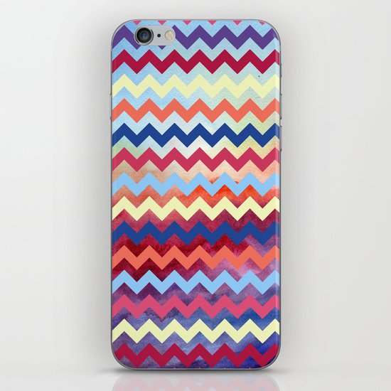 Watercolor Chevron II iPhone Skin