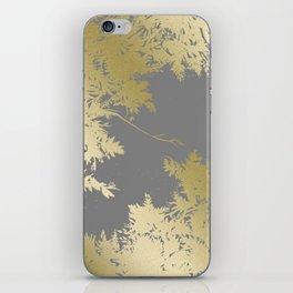 Night's Sky Gold & Grey iPhone Skin