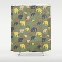 giants Shower Curtains featuring The forest giants by Preethiprabhu